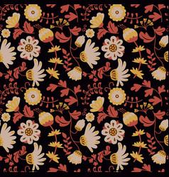 Beauty flowers seamless pattern vector