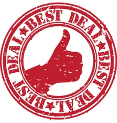 Best deal stamp vector image