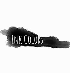 Black ink color grunge vector