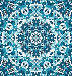 Blue crystal kaleidoscope pattern vector