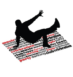 Break dance man on word vector