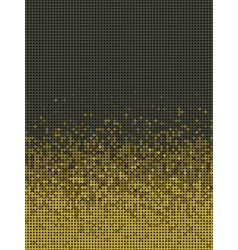 Bubble gradient pattern in green brown and yellow vector