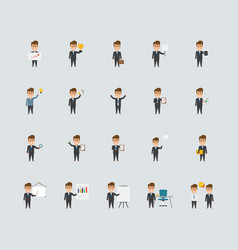 Business concept idea characters flat icons vector