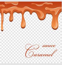 Caramel sauce 3d flowing caramel liquid isolated vector