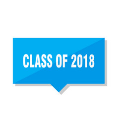 Class of 2018 price tag vector