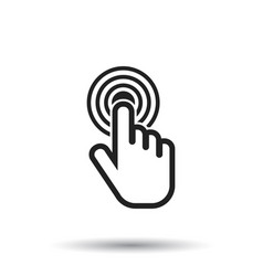 Click here icon hand cursor signs black button vector
