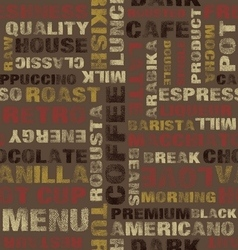 Coffee letters pattern vector