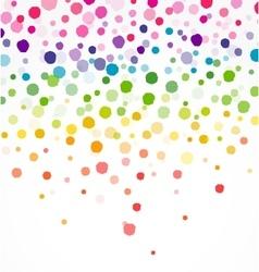 Colorful confetti on round vector