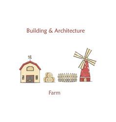 colorful milk farm life vector image