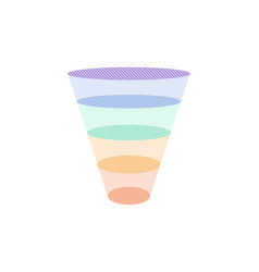 colorful sales funnel vector image