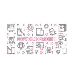 development concept outline horizontal vector image