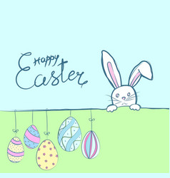 easter rabbits card vector image