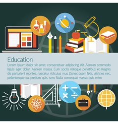 Education Icons Objects Layout with Copy Space vector