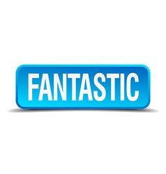 Fantastic blue 3d realistic square isolated button vector