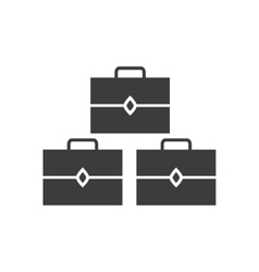 Flat icon in black and white style suitcases vector