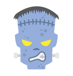 frankenstein flat icon halloween and scary vector image
