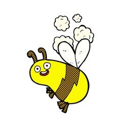 funny comic cartoon bee vector image vector image
