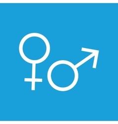 Gender symbols icon white vector