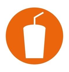 Glass soda drink icon vector