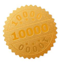 Gold 10000 medal stamp vector