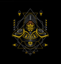 Gold assassin geometry style vector