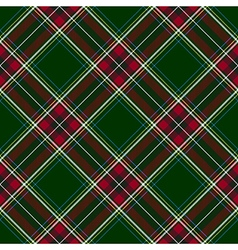 Green red diagonal check plaid seamless pattern vector