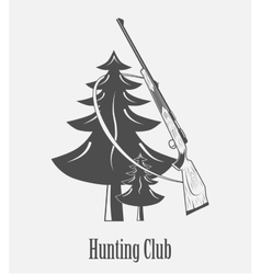 Icon of the hunting Club with guns vector