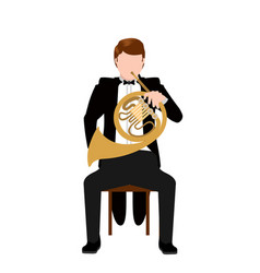 Isolated musician icon vector