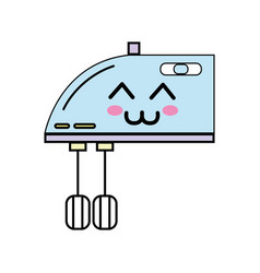 Kawaii cute happy mixer technology vector