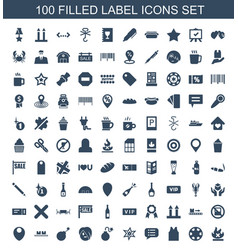 Label icons vector