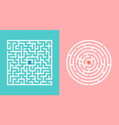 labyrinth game maze with way puzzle with entrance vector image