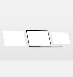 laptop with blank screen framework web pages vector image
