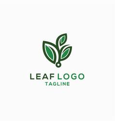 leaf logo template vector image
