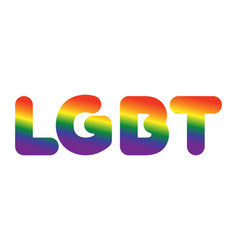 lgbt sign of rainbow letters letitiging for gays vector image