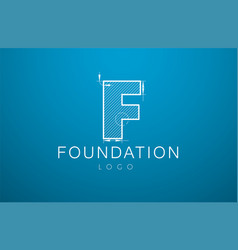 logo template letter f in style a vector image