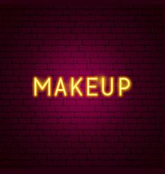 Makeup neon text vector