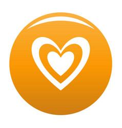 Masculine heart icon orange vector