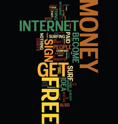 Money for free text background word cloud concept vector