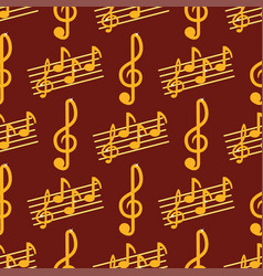 Music note melody symbols seamless pattern vector