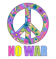 no war colorful background vector image