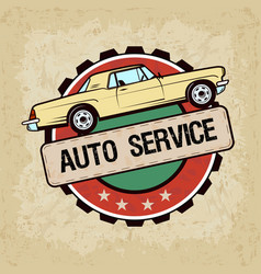 old car in vintage style vector image
