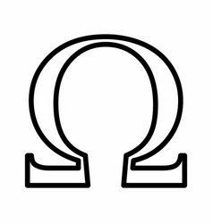 omega ohm sign vector image