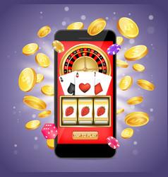 online casino poster banner design template vector image