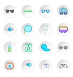 Ophthalmologist icons set vector