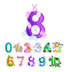 Ordinal numbers for teaching children counting vector