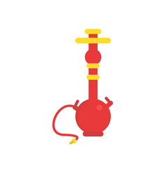 Oriental shisha with pipe for smoking tobacco vector