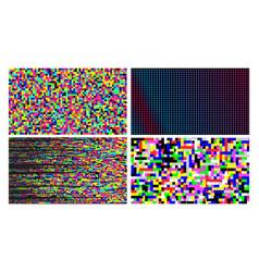 Pixel noise of channel grain screen set vector