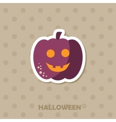 Pumpkins icon Halloween sticker vector
