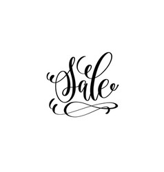 sale hand lettering inscription for discount card vector image