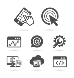 seo and advertising icons set 1 vector image